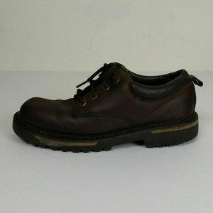 Skechers Brown Leather Lace Up Oxfords Mens 9